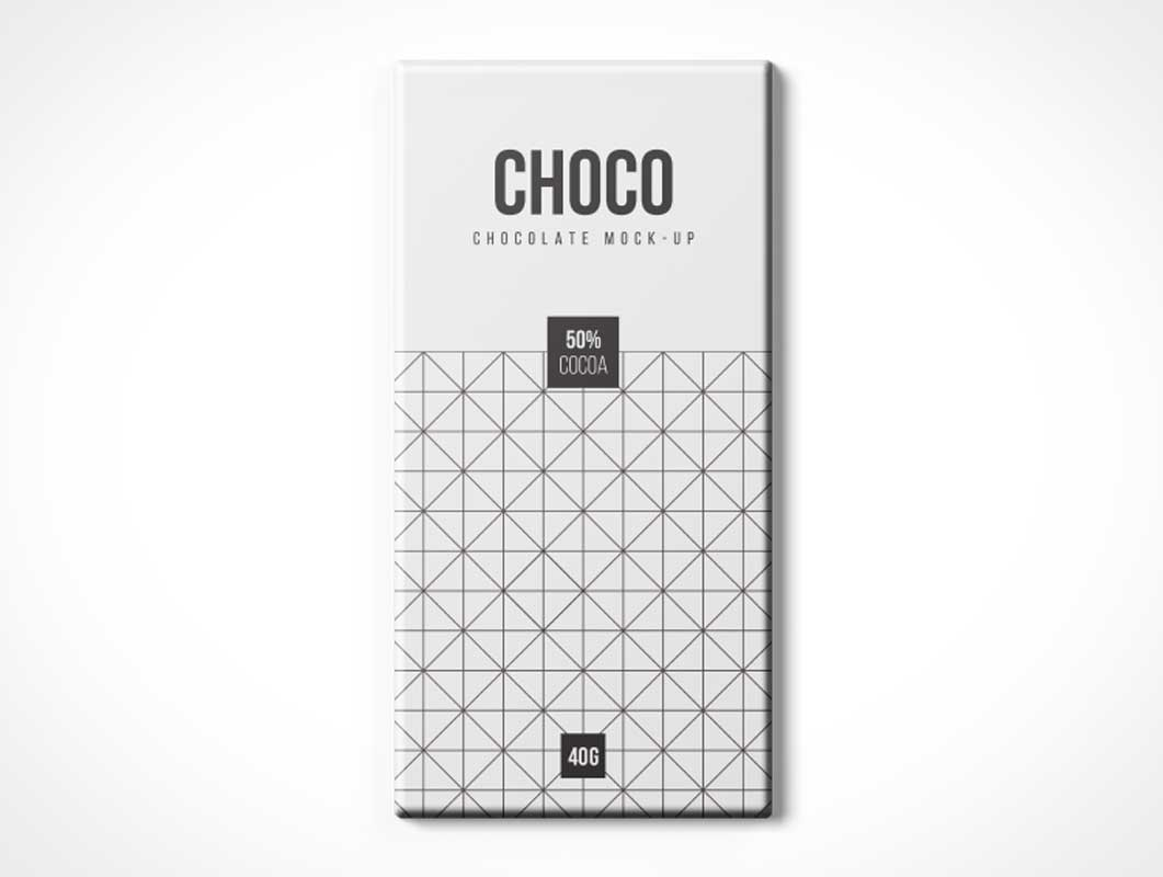 Chocolate Box Package PSD Mockup