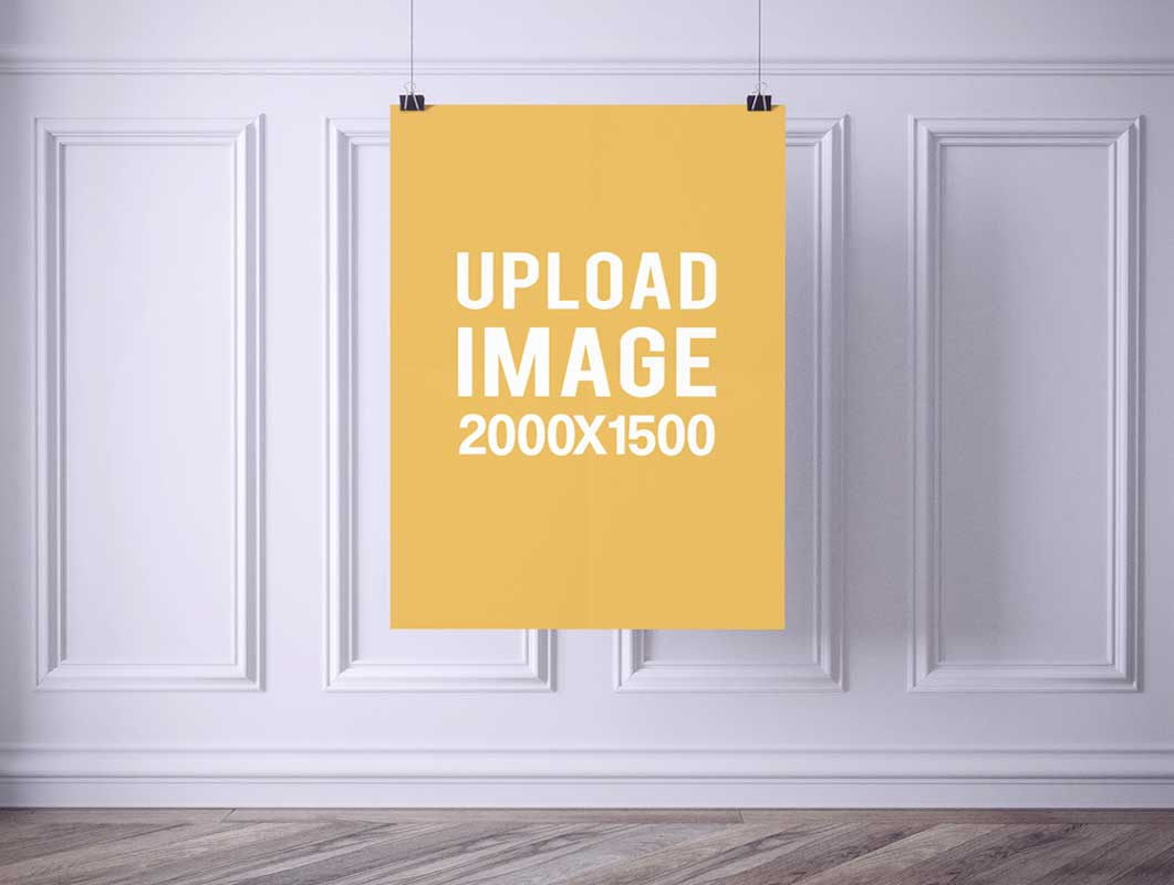 Classic Online Poster PSD Mockup