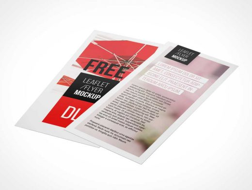 DL Flyer PSD Mockup