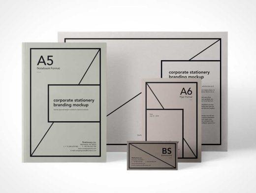 Essential Stationery Branding PSD Mockup