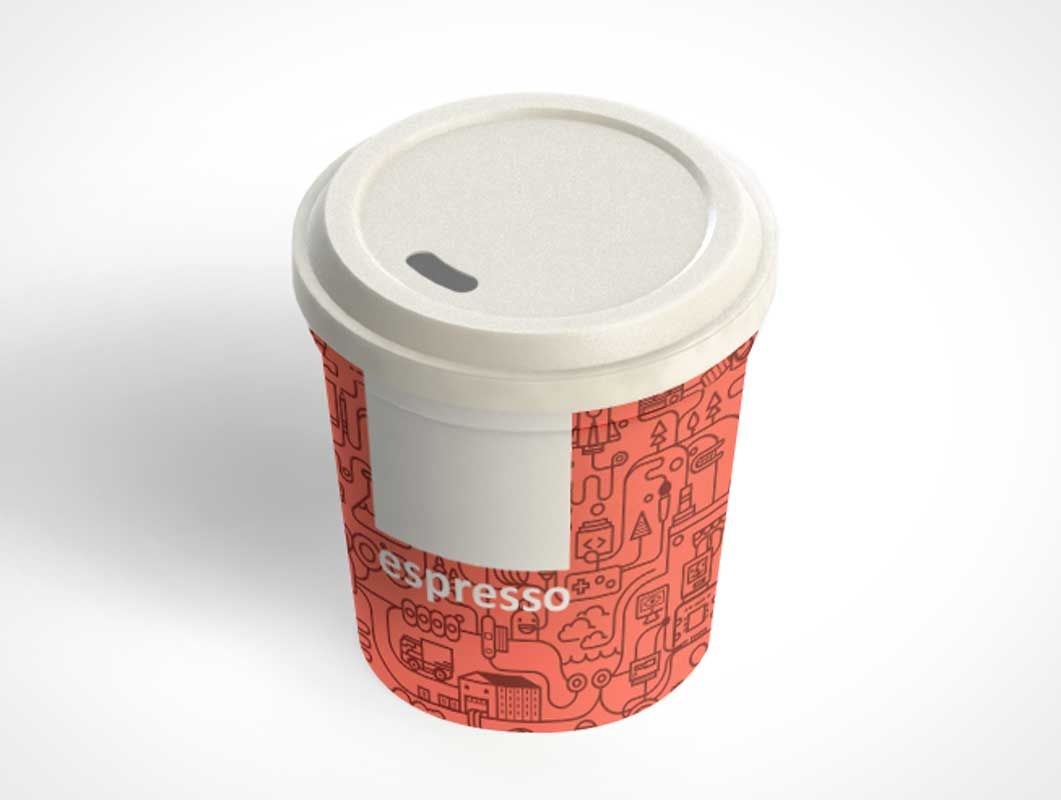 Expresso Cup PSD Mockup