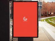 Free Bus Stop Billboard Banner PSD Mockup