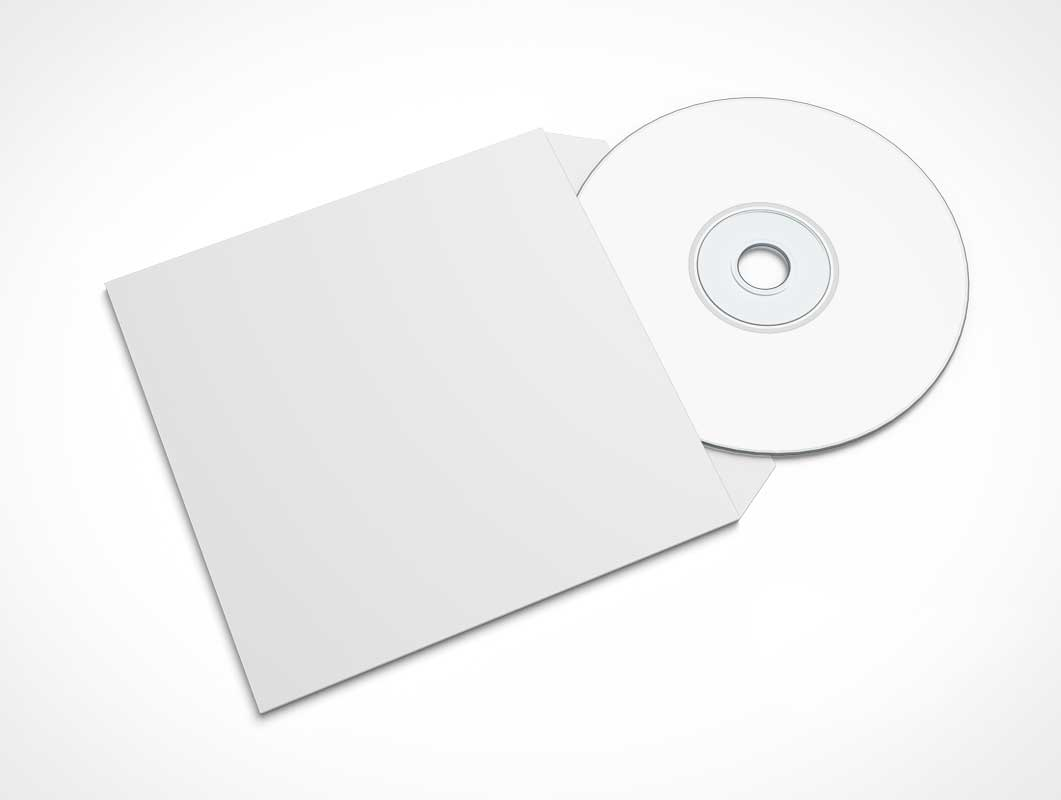 Free Disk & CD Sleeve Cover PSD Mockup