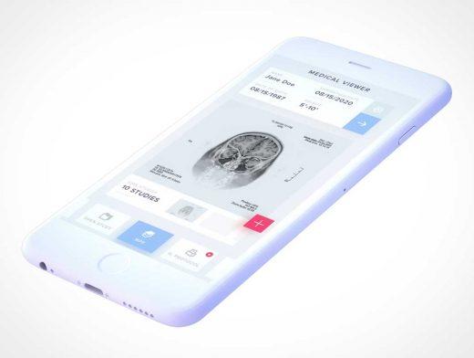 Free Light iPhone 7 PSD Mockup