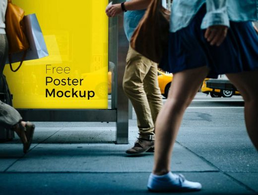 Free Poster and Billboard PSD Mockups