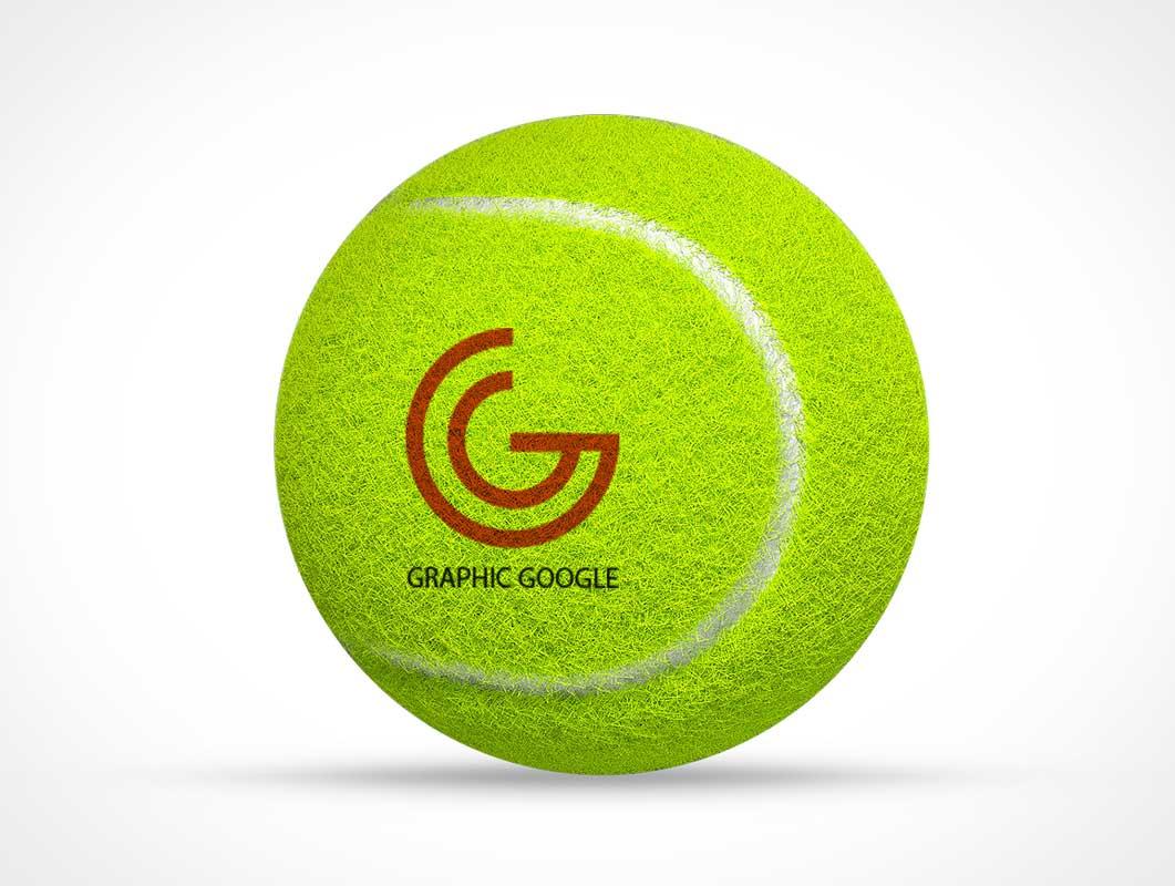 Free Tennis Ball Logo Branding PSD Mockup