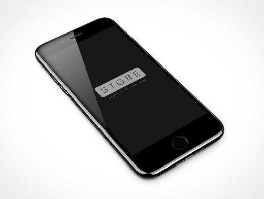 Free iPhone 7 Jet Black PSD Mockup