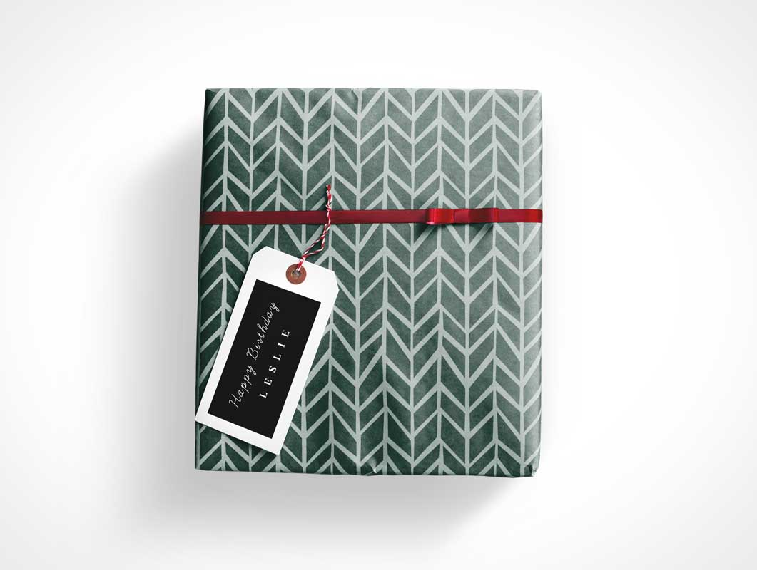 Gift Wrap Box Psd Mockup Psd Mockups