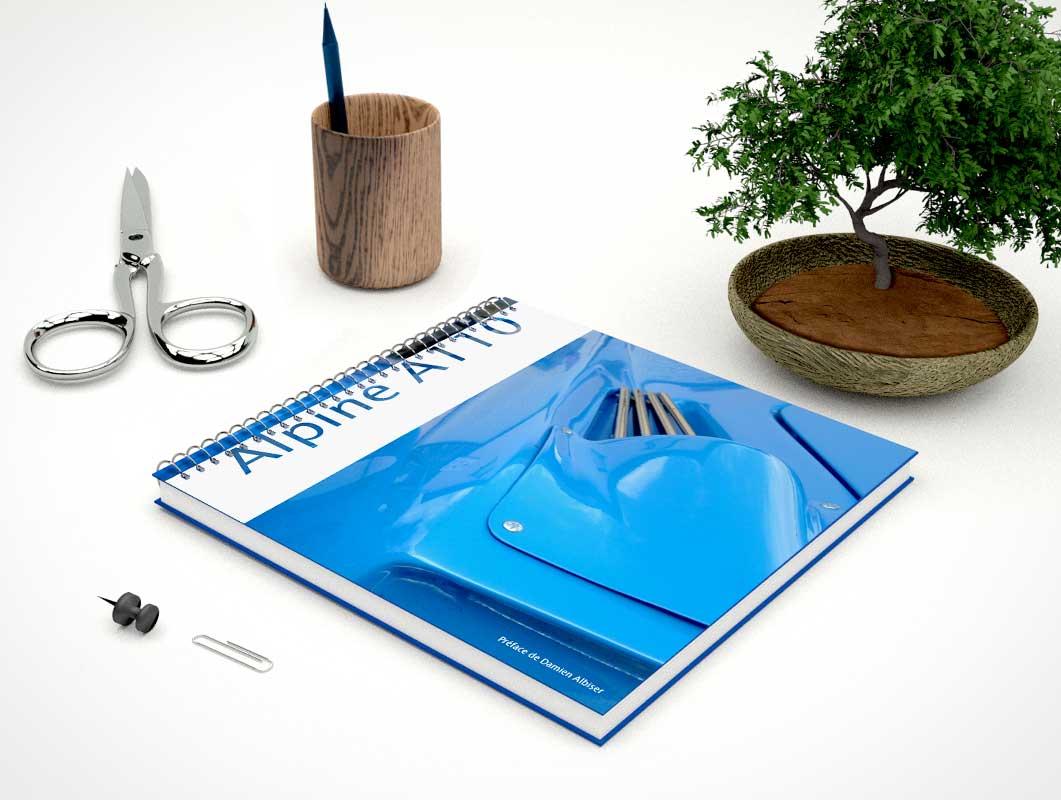 Hardcover Ring Book PSD Mockup