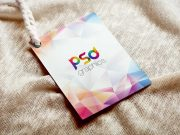 Label Tag Over Cloth PSD Mockup