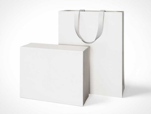 Luxury Box And Bag PSD Mockups