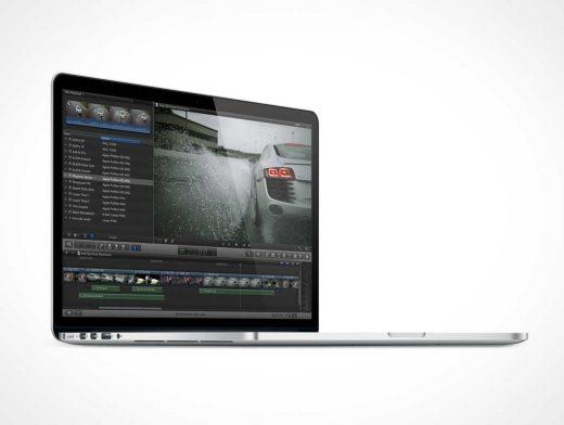 MacBook Pro Retina Laptop PSD Mockup