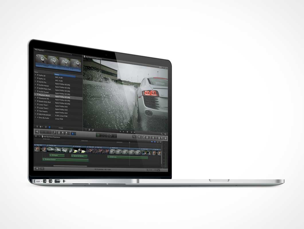 MacBook Pro Retina Laptop PSD Mockup