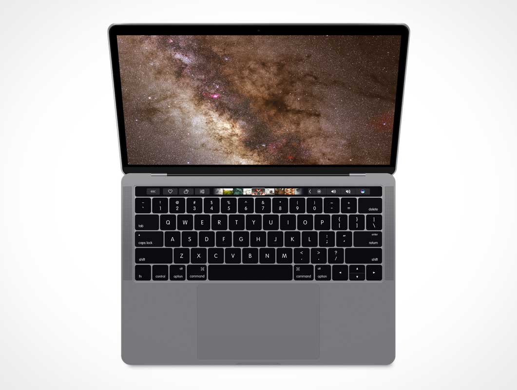 Macbook Pro 2016 With Touch Bar PSD Mockup