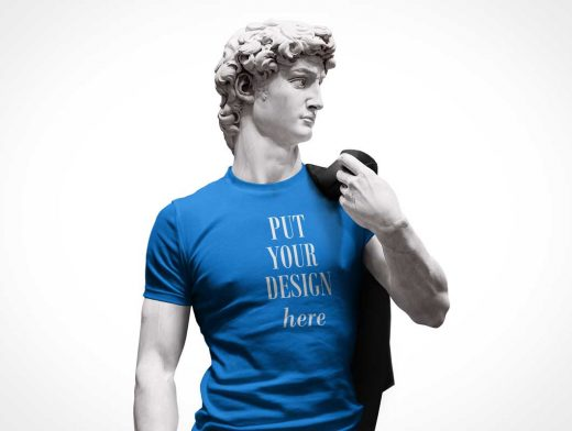 Michael-Angelo's David T-shirt PSD Mockup