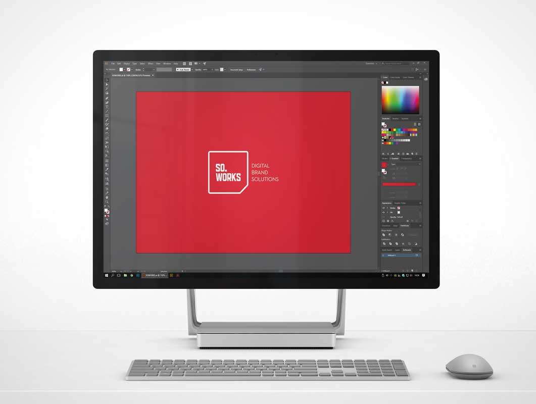 Microsoft Surface Studio PSD Mockups
