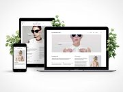 Mobile Device Screen Showcase PSD Template