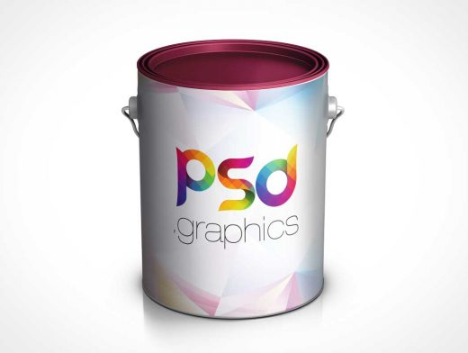 Paint Bucket Can PSD Mockup