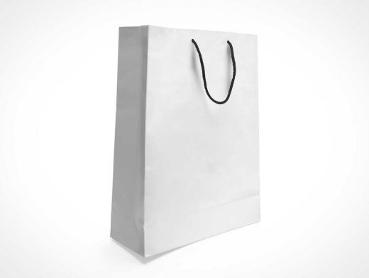 Paper Bag PSD Mockup With Carry String