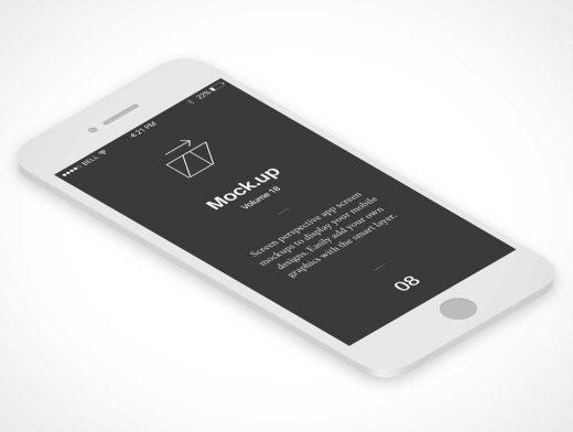 Perspective App Screens PSD Mockup
