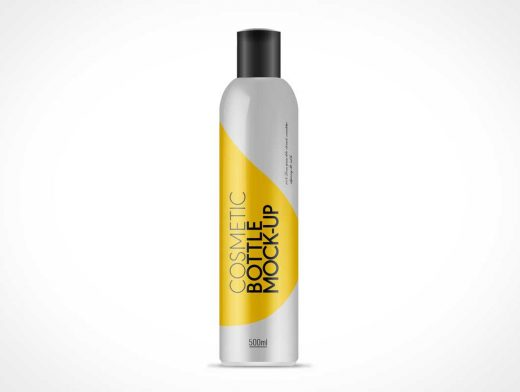 Photo Realistic Cylinder Cosmetic Bottle PSD Mockup