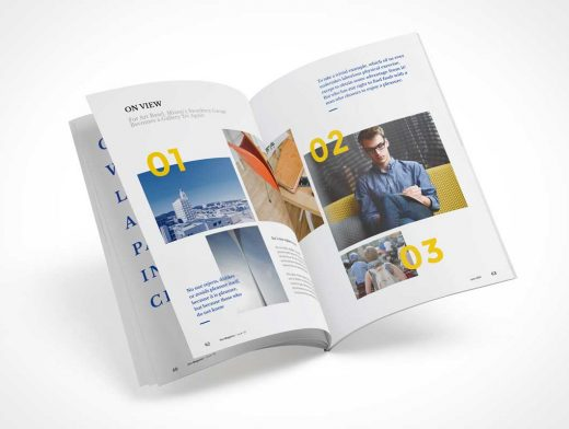 Photorealistic Magazine Defies Gravity PSD Mockup