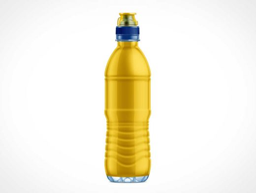 Plastic Water Bottle With Spout PSD Mockup