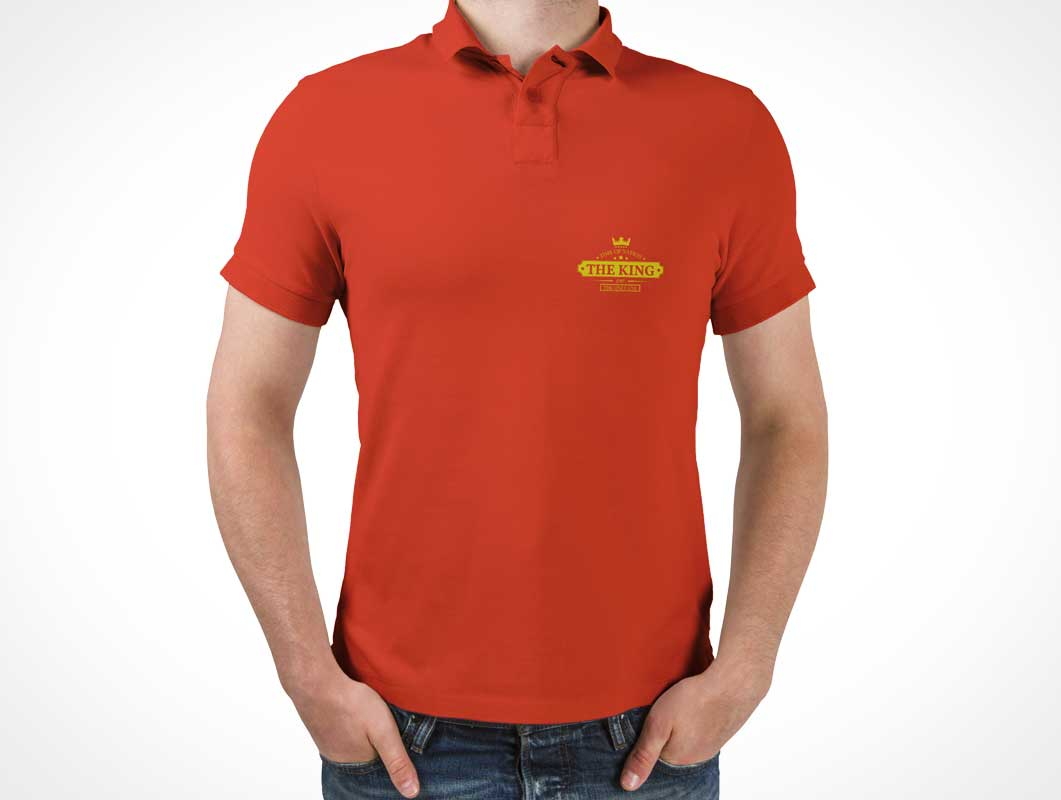 Polo T-Shirt PSD Mockup Template