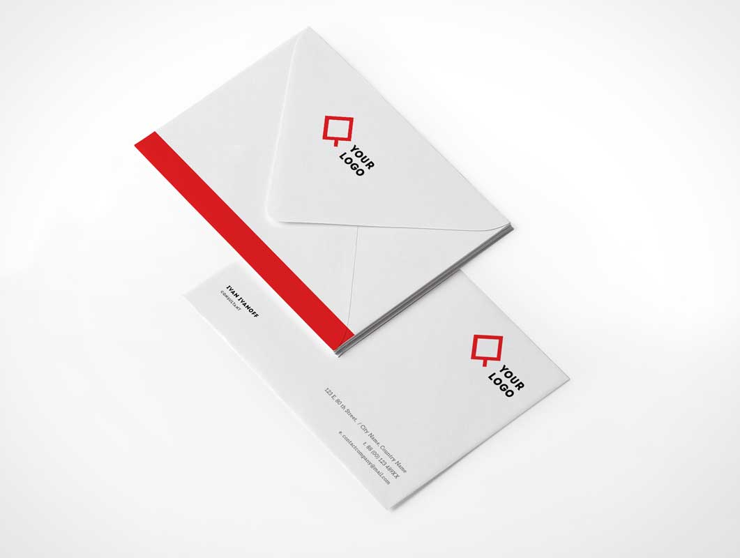 Realistic Envelope PSD Mockup Front And Back