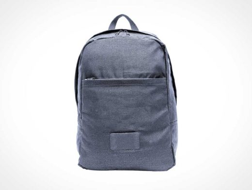 School Backpack Bag With Front Pocket PSD Mockup