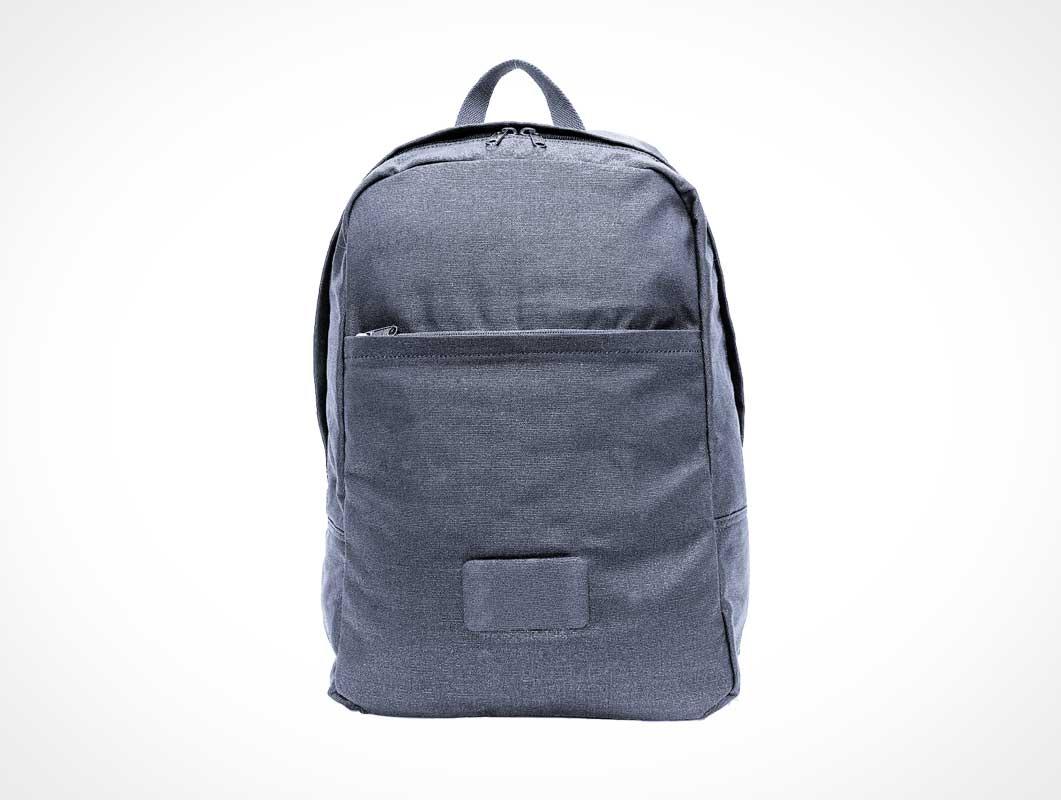 School Backpack Bag With Front Pocket PSD Mockup