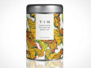 Sealed Tin Container Packaging PSD Mockup