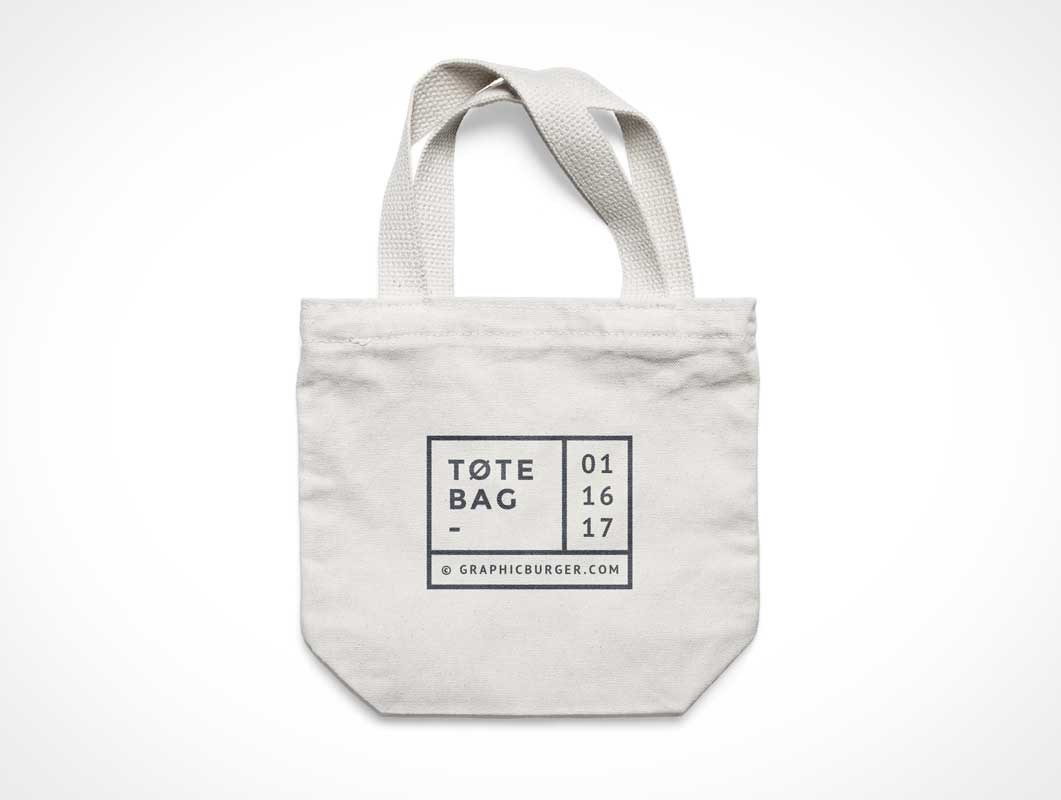 Small Canvas Tote Bag Psd Mockup