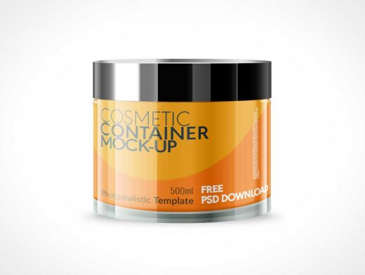 Small Cosmetic Jar Container PSD Mockup