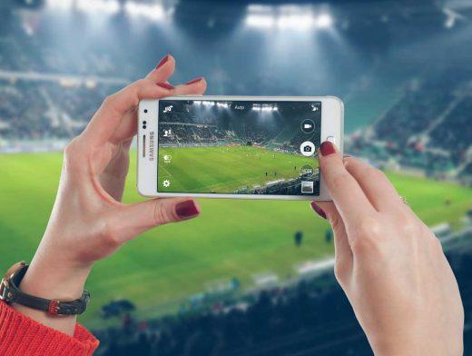 Smartphone Photographing Scene PSD Mockup