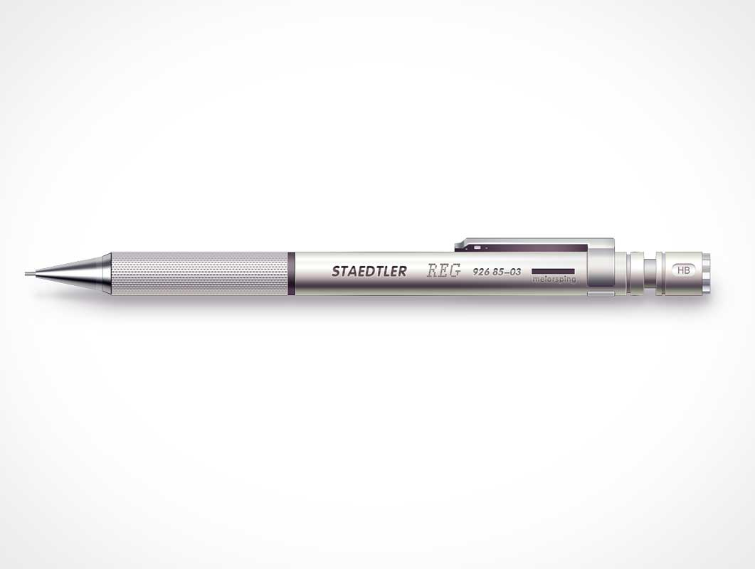 Staedtler Mechanical Pencil PSD Mockup