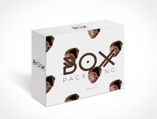 Standing Box Packaging PSD Mockup