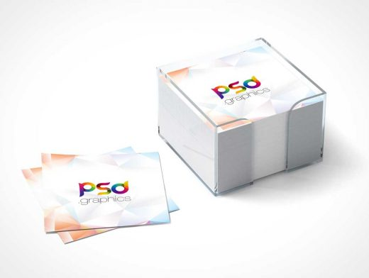 Sticky Postit Notes Branding PSD Mockup