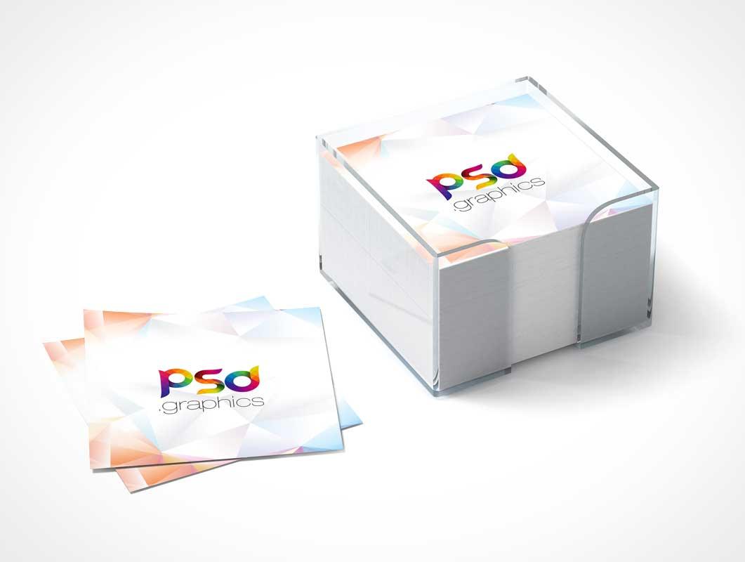 Sticky Postit Notes Branding PSD Mockup