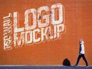 Street Wall Logo PSD Mockup
