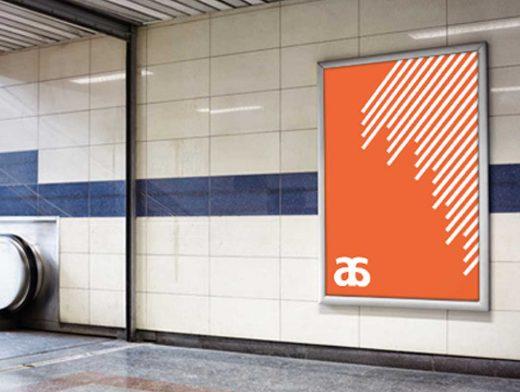 Subway And Outdoor Billboard Poster PSD Mockup