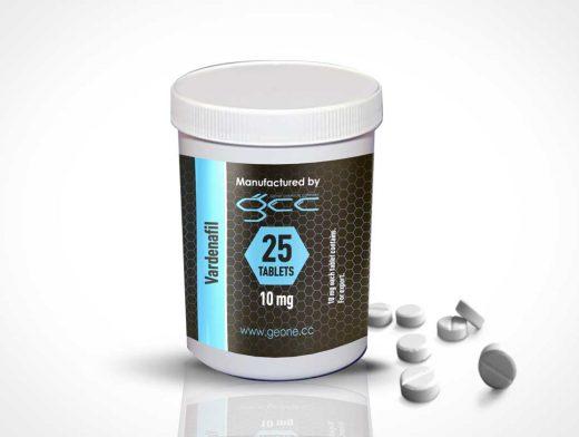 Tablet Supplements Packaging PSD Mockup