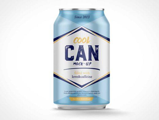 Traditional American Soda Can PSD Mockup