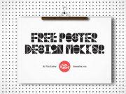 Various Poster Hanging Clips PSD Mockup