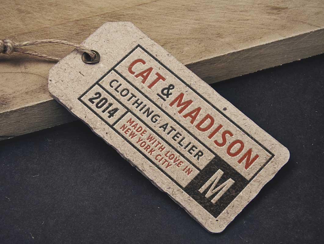 Vintage Label Tag PSD Mockup