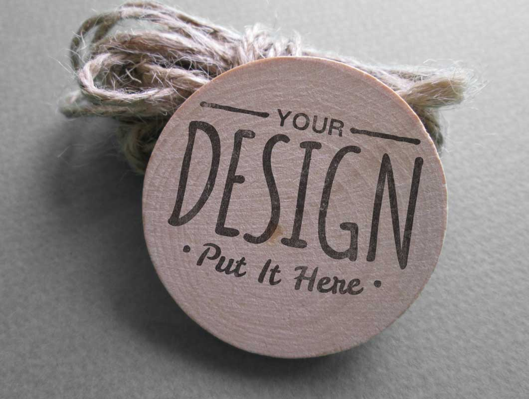 Vintage Logo Button Label PSD Mockup