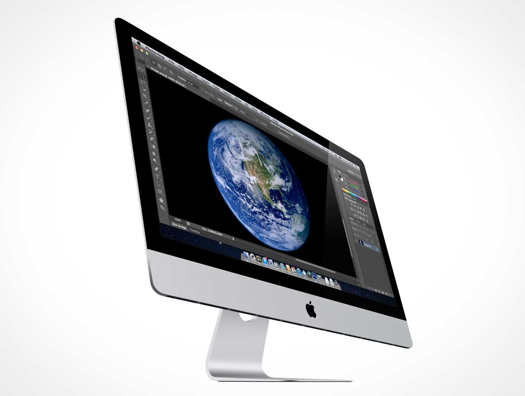 iMac Dramatic Product Shot PSD Mockup
