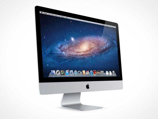 iMac Front Product Shot PSD Mockup