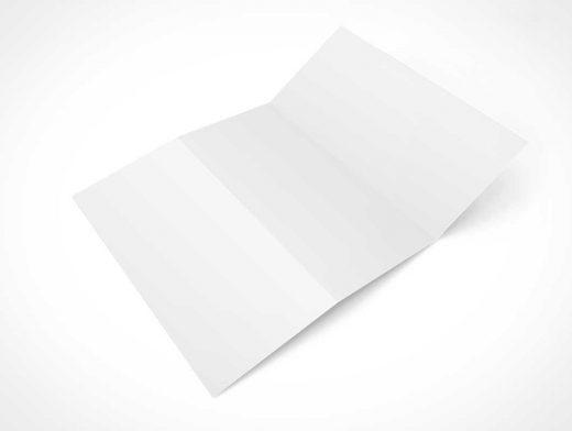 3 Panel Z Fold Brochure PSD Mockup