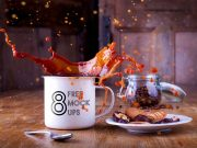 8 Ceramic Mug Coffee Action Shots PSD Mockups